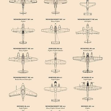 German Fighter Aircraft of WW2 by rogue-design