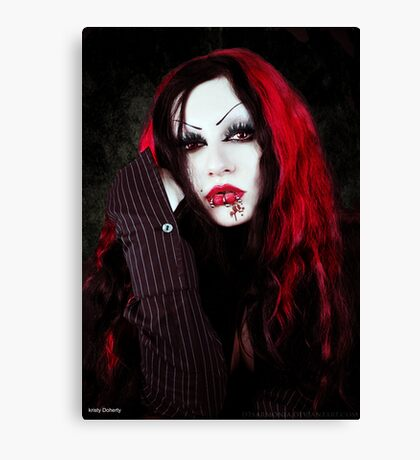a vampires portrait  Canvas Print