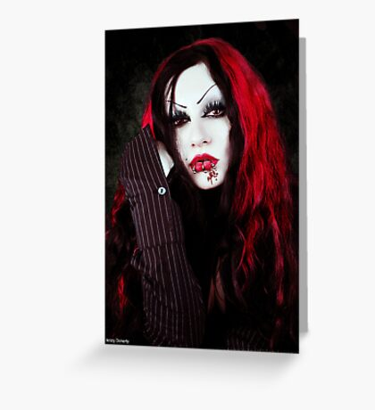 a vampires portrait  Greeting Card
