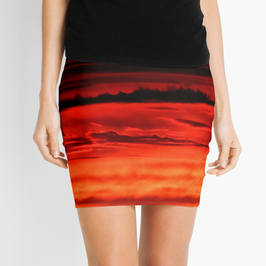 Evening Clouds Abstract Mini Skirt
