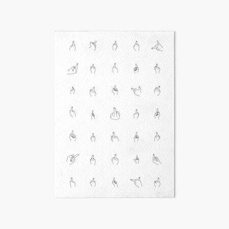 wall art home decor print GG35 Middle Finger Scandi Art Fashion Poster