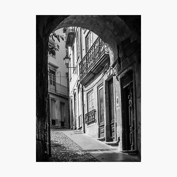Alley, Coimbra, Portugal Photographic Print