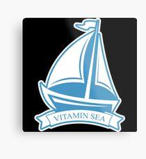 Sailing sailboat gift sailor ship lake yacht Metal Print