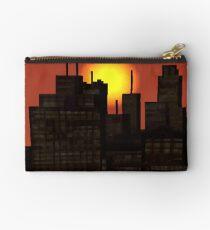 Aesthetic Skyline Pixel Art Studio Pouch