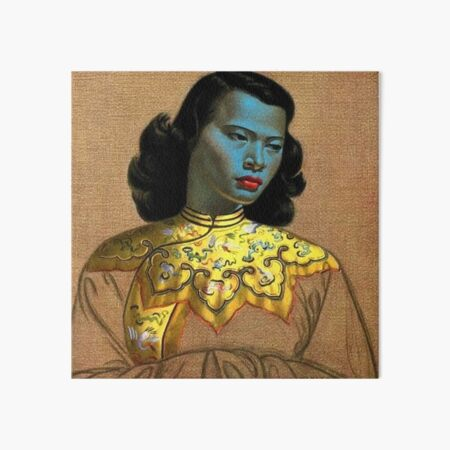 Vladimir Tretchikoff's 'the Chinese Girl, The Green Lady' Art Print Art Board Print