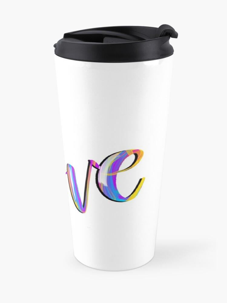 Alternate view of Colorful Love Travel Mug
