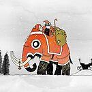 Festive Mammoth by djrbennett