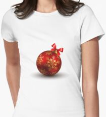 Christmas Bauble Women's Fitted T-Shirt