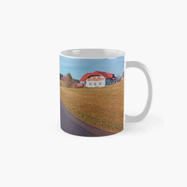 Country road, scenery and blues sky | landscape photography Classic Mug