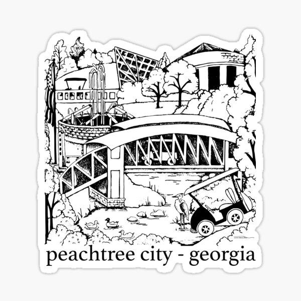 Peachtree City, Georgia Souvenir Sticker