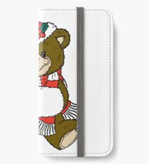 Adorable Christmas Bear  iPhone Wallet/Case/Skin