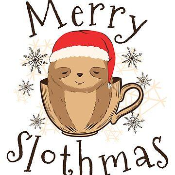 Merry Christmas Sloth by jama777