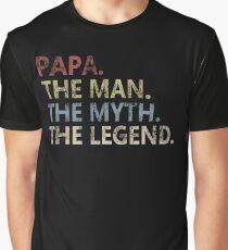 Mens The Man The Myth The Legend Shirt pour Papa Papa T-shirt graphique