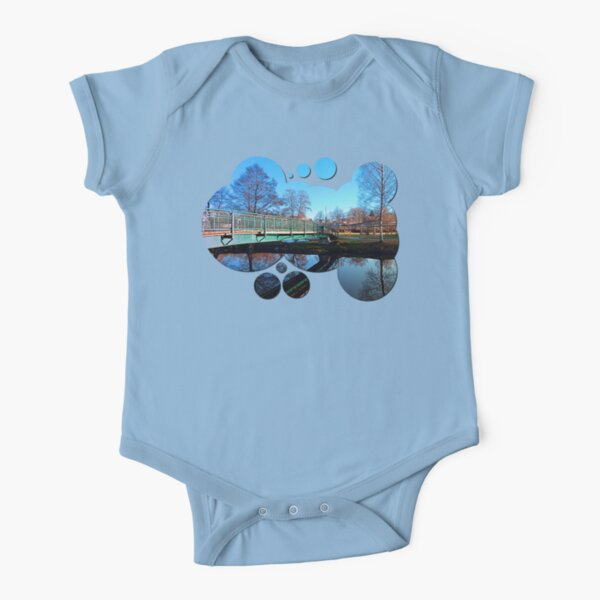 A bridge, the river and reflections II | waterscape photography Short Sleeve Baby One-Piece
