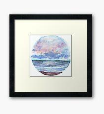 Sunset Ocean Sky   Paperness Framed Print