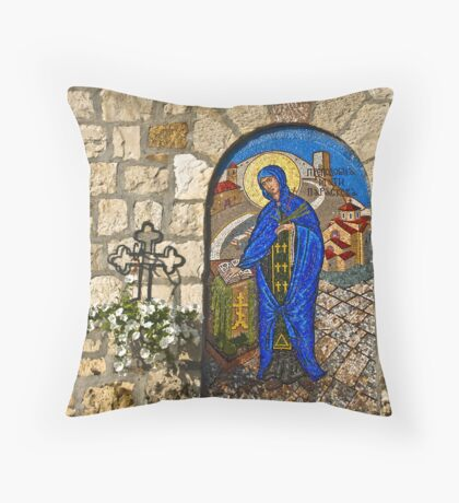 St. Petka in mosaic Throw Pillow