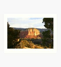 Rocky Outcropping at Ghost Ranch Art Print