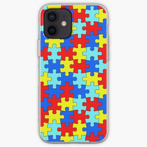 Autism Puzzle Pieces iPhone Soft Case