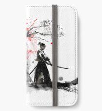 Japanische Samurai iPhone Flip-Case/Hülle/Klebefolie