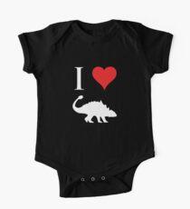 I Love Dinosaurs - Ankylosaurus (white design) One Piece - Short Sleeve