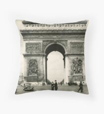 Postcard from the past. Throw Pillow