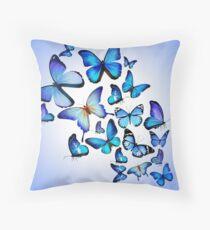 Blaue Schmetterlings-Waren Kissen