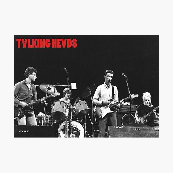 Talking Heads Photographic Print