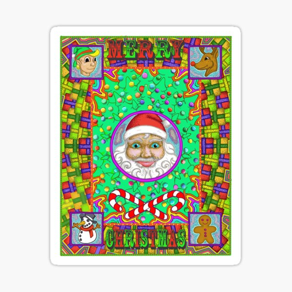 Christmas Mandala Sticker