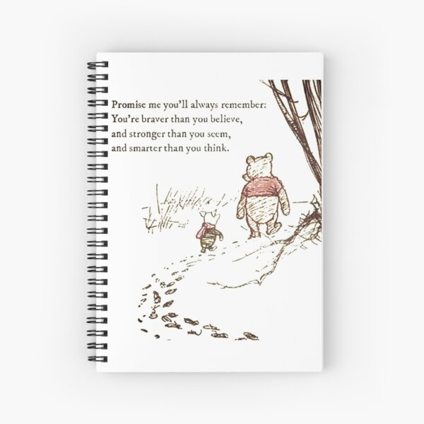 You are BRAVE (transparent background) Spiral Notebook