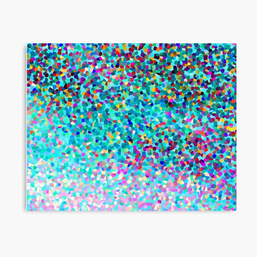 Aqua Blue Mehrfarbige Abstrakte Kunst Formt Muster Leinwanddruck