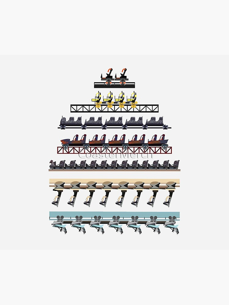 Alton Towers Coaster Trains Design by CoasterMerch