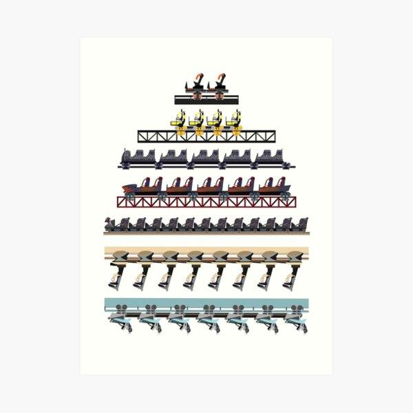Alton Towers Coaster Trains Design Art Print