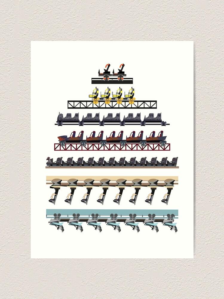 Alternate view of Alton Towers Coaster Trains Design Art Print