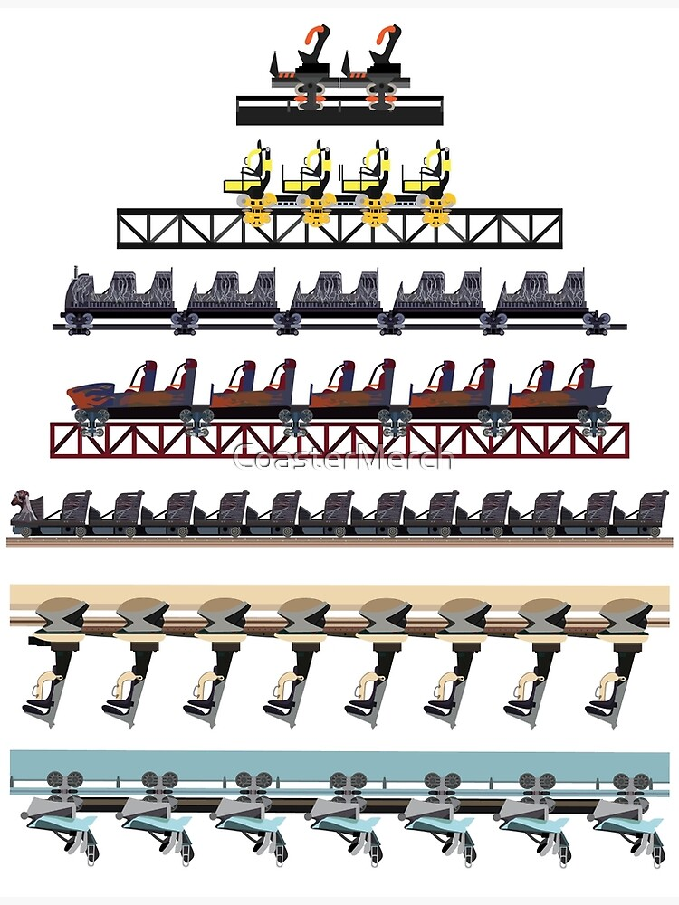 Alton Towers Coaster Trains Design by CoasterMerch