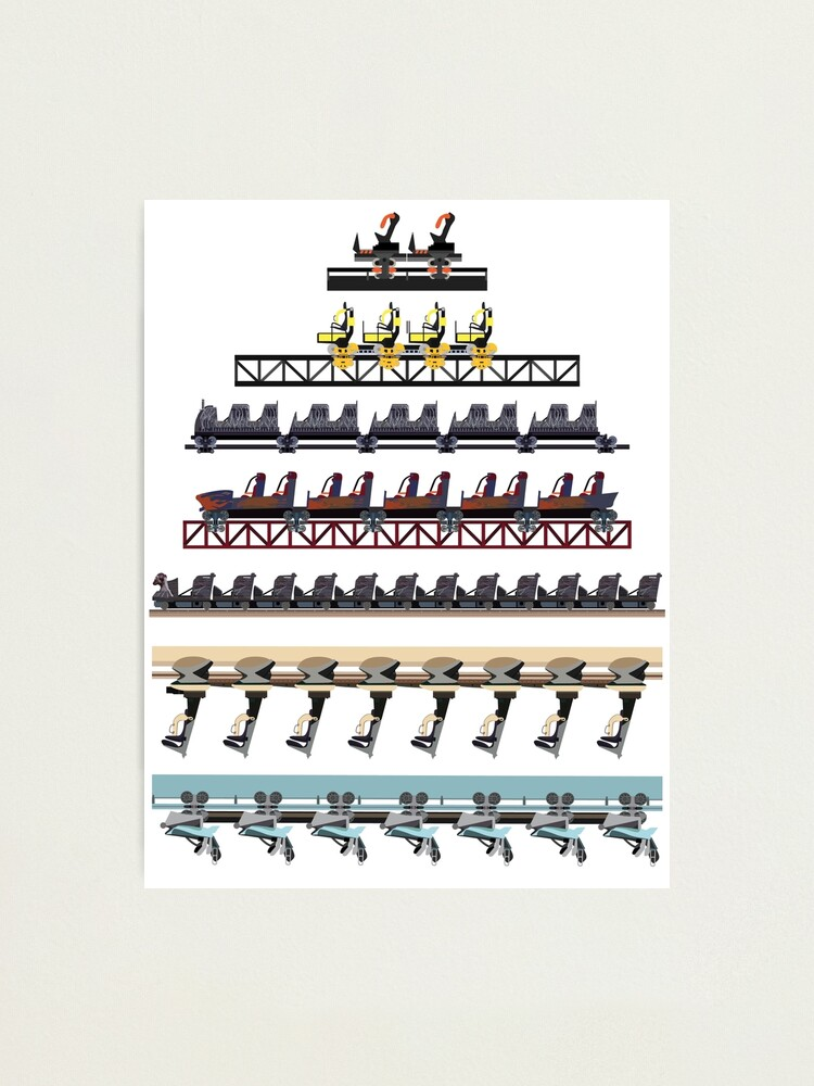 Alternate view of Alton Towers Coaster Trains Design Photographic Print