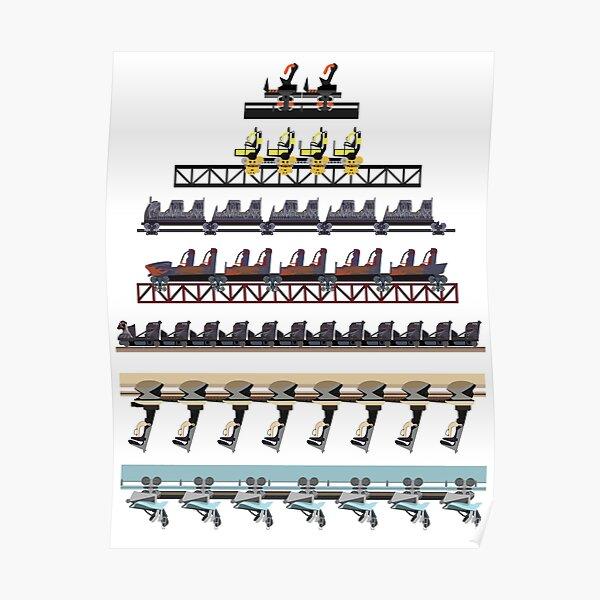 Alton Towers Coaster Trains Design Poster
