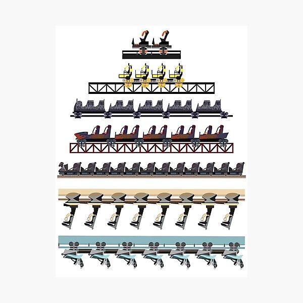 Alton Towers Coaster Trains Design Photographic Print