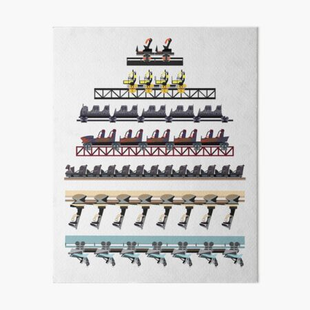 Alton Towers Coaster Trains Design Art Board Print