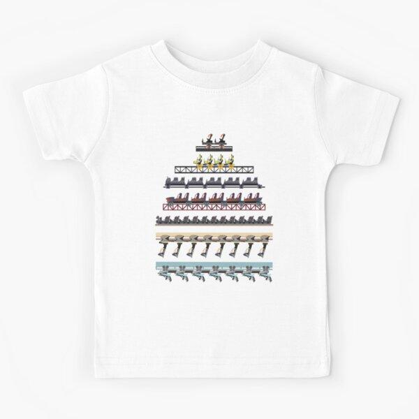 Alton Towers Coaster Trains Design Kids T-Shirt