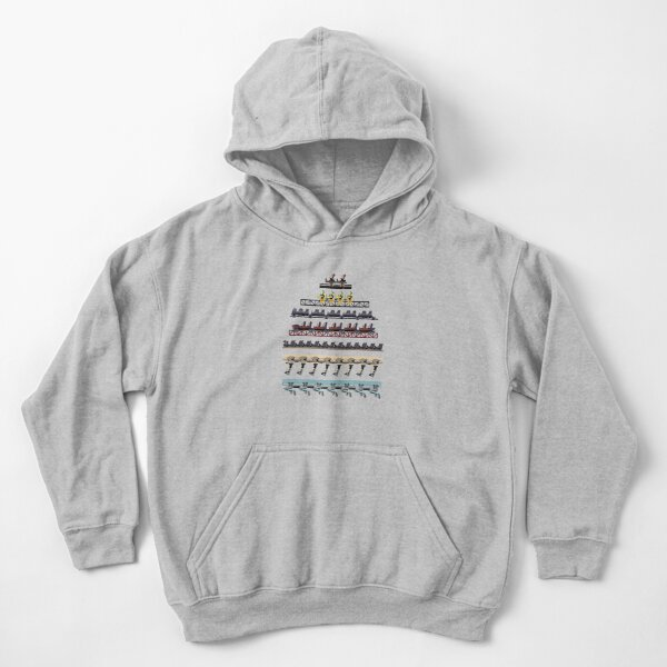Alton Towers Coaster Trains Design Kids Pullover Hoodie