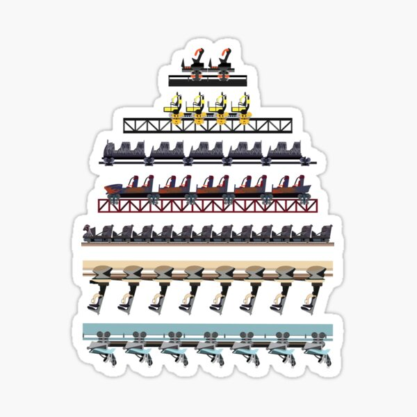Alton Towers Coaster Trains Design Sticker