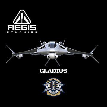 Star Citizen Gladius by FlashFireTees