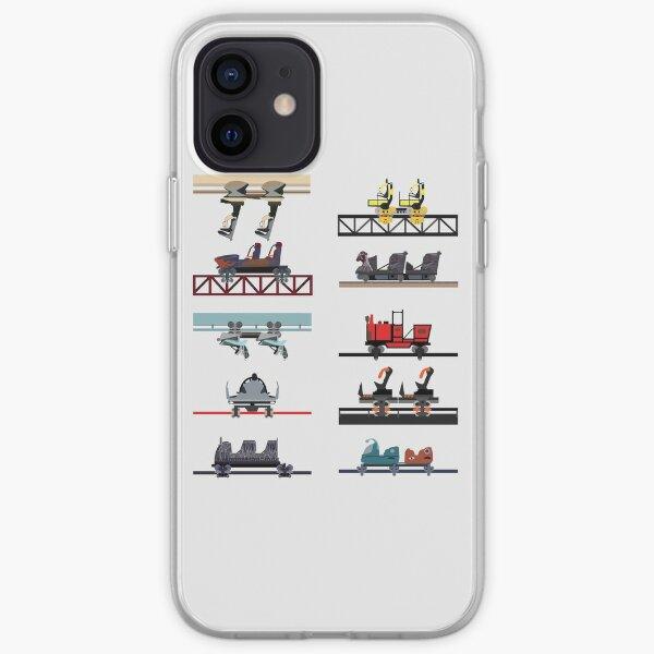 Alton Towers Coaster Cars Design iPhone Soft Case