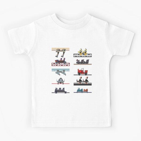Alton Towers Coaster Cars Design Kids T-Shirt