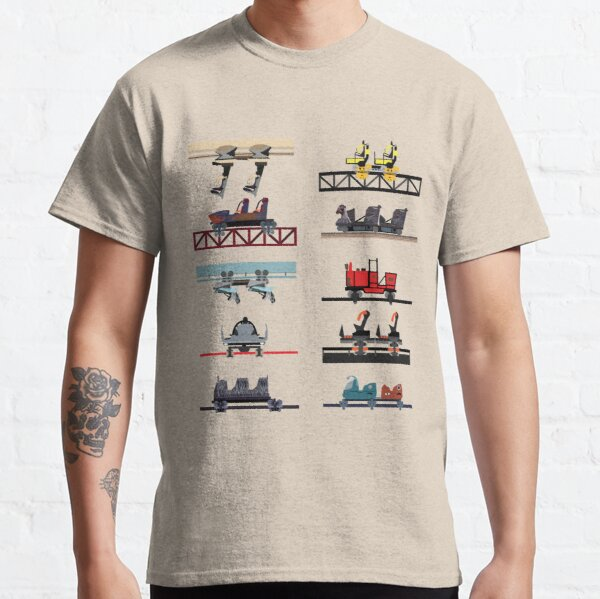 Alton Towers Coaster Cars Design Classic T-Shirt