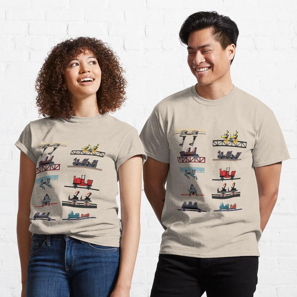 Alton Towers Coaster Cars Design Classic T-Shirt