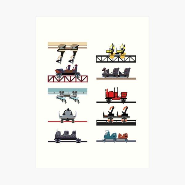 Alton Towers Coaster Cars Design Art Print