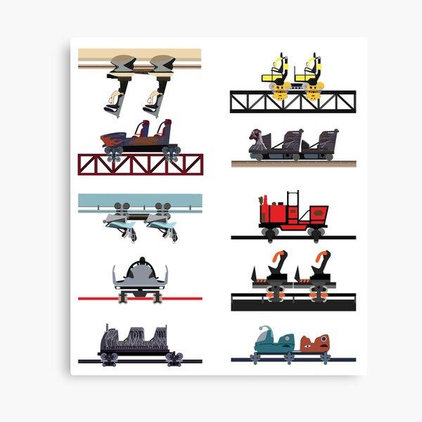 Alton Towers Coaster Cars Design Canvas Print