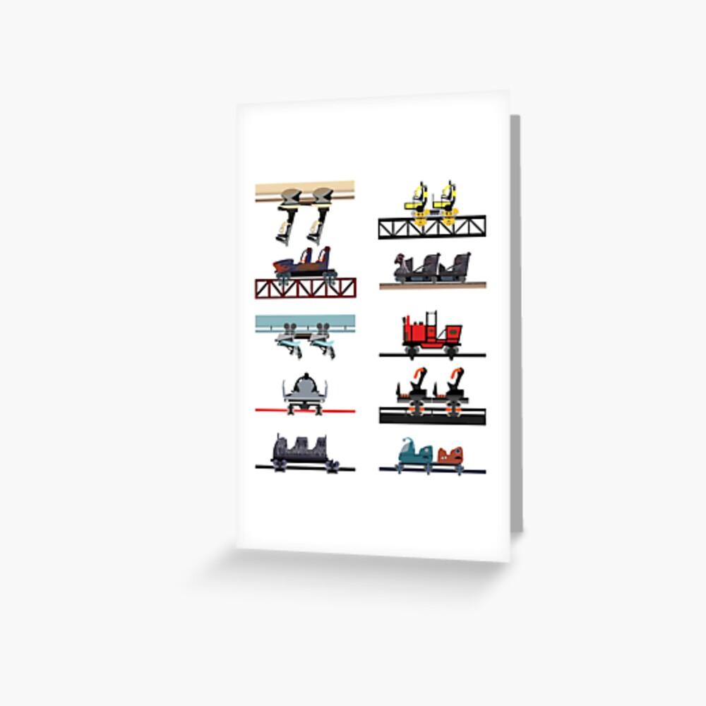 Alton Towers Coaster Cars Design Greeting Card