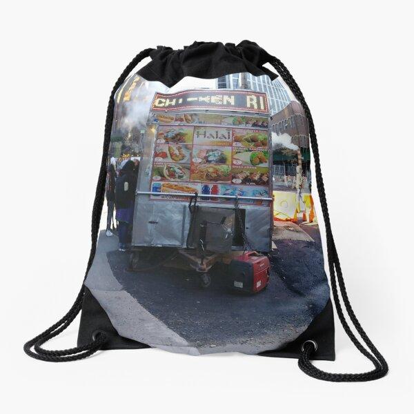 New York City, Manhattan, New York, downtown, #NeeYorkCity, #Manhattan, #NeeYork, #downtown, #buildings, #streets, #avenues, #skyscrapers, #cars, #pedestrians Drawstring Bag